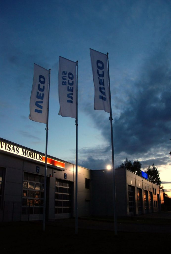 Flagi reklamowe Iveco – Litwa