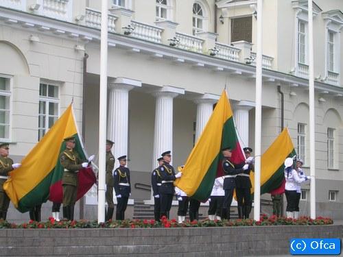 Flagi państwowe Pałac Prezydencki – Wilno, Litwa